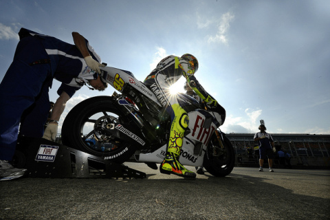 Rossi Exits the Pits